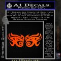 Eyes Of Horus Decal Stickers Rah 2Pk Orange Emblem 120x120