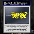 Eyes Of Horus Decal Stickers Rah 2Pk Yellow Laptop 120x120