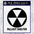 Fallout Shelter Decal Sticker Black Vinyl 120x120