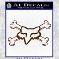 Fox Bones Decal Sticker BROWN Vinyl 120x120