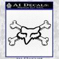 Fox Bones Decal Sticker Black Vinyl 120x120