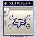 Fox Bones Decal Sticker Blue Vinyl 120x120