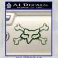 Fox Bones Decal Sticker Dark Green Vinyl 120x120
