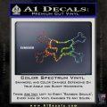 Fox Bones Decal Sticker Glitter Sparkle 120x120