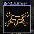 Fox Bones Decal Sticker Gold Vinyl 120x120