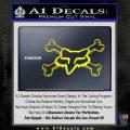 Fox Bones Decal Sticker Yellow Laptop 120x120