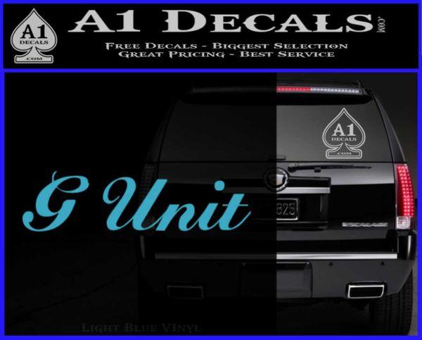Bumper 120x120 g unit sticker decal wide light blue vinyl 120x97