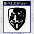 Guy Fawkes Anonymous Mask V Vendetta D8 Decal Sticker Black Vinyl 120x120