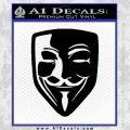 Guy Fawkes Anonymous Mask V Vendetta D8 Decal Sticker Black Vinyl 120x120