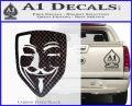 Guy Fawkes Anonymous Mask V Vendetta D8 Decal Sticker Carbon FIber Black Vinyl 120x97