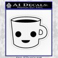 Happy Coffee Tea Cup D1 Decal Sticker Black Vinyl 120x120