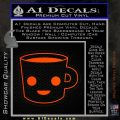 Happy Coffee Tea Cup D1 Decal Sticker Orange Emblem 120x120