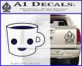 Happy Coffee Tea Cup D1 Decal Sticker PurpleEmblem Logo 120x97