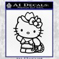 Hello Kitty Cowgirl Decal Sticker Black Vinyl 120x120