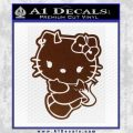 Hello Kitty Devilish Decal Sticker D2 BROWN Vinyl 120x120