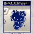 Hello Kitty Devilish Decal Sticker D2 Blue Vinyl 120x120