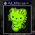 Hello Kitty Devilish Decal Sticker D2 Lime Green Vinyl 120x120