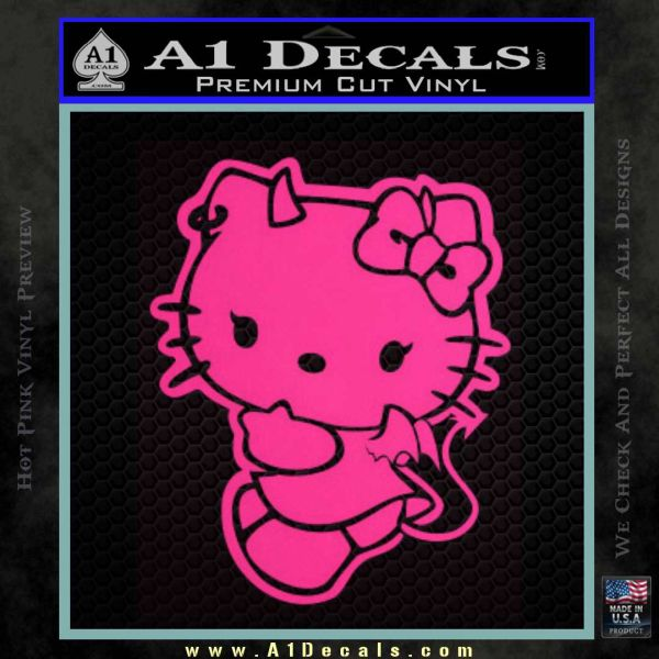 Hello Kitty Devilish Decal Sticker D2 Pink Hot Vinyl