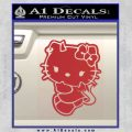 Hello Kitty Devilish Decal Sticker D2 Red 120x120