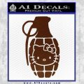 Hello Kitty Grenade Decal Sticker BROWN Vinyl 120x120