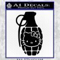 Hello Kitty Grenade Decal Sticker Black Vinyl 120x120