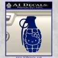 Hello Kitty Grenade Decal Sticker Blue Vinyl 120x120