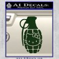 Hello Kitty Grenade Decal Sticker Dark Green Vinyl 120x120