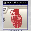 Hello Kitty Grenade Decal Sticker Red 120x120