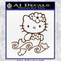 Hello Kitty Mermaid Decal Sticker BROWN Vinyl 120x120