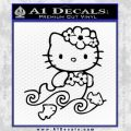 Hello Kitty Mermaid Decal Sticker Black Vinyl 120x120