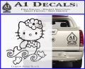 Hello Kitty Mermaid Decal Sticker Carbon FIber Black Vinyl 120x97