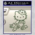 Hello Kitty Mermaid Decal Sticker Dark Green Vinyl 120x120