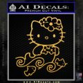 Hello Kitty Mermaid Decal Sticker Gold Vinyl 120x120