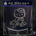 Hello Kitty Mermaid Decal Sticker Metallic Silver Emblem 120x120