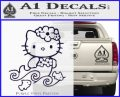 Hello Kitty Mermaid Decal Sticker PurpleEmblem Logo 120x97