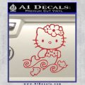 Hello Kitty Mermaid Decal Sticker Red 120x120