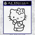 Hello Kitty Wink Decal Sticker Black Vinyl 120x120