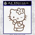 Hello Kitty Wink Decal Sticker Brown Vinyl 120x120