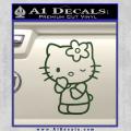 Hello Kitty Wink Decal Sticker Dark Green Vinyl 120x120
