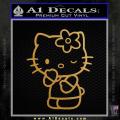 Hello Kitty Wink Decal Sticker Gold Metallic Vinyl 120x120