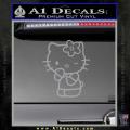 Hello Kitty Wink Decal Sticker Grey Vinyl 120x120