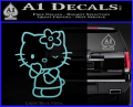 Hello Kitty Wink Decal Sticker Light Blue Vinyl 120x97