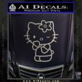 Hello Kitty Wink Decal Sticker Metallic Silver Vinyl 120x120