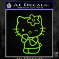 Hello Kitty Wink Decal Sticker Neon Green Vinyl 120x120