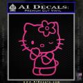 Hello Kitty Wink Decal Sticker Neon Pink Vinyl 120x120