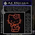 Hello Kitty Wink Decal Sticker Orange Emblem 120x120
