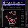 Hello Kitty Wink Decal Sticker Soft Pink Emblem 120x120