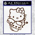 Hello kitty cupid decal sticker BROWN Vinyl 120x120