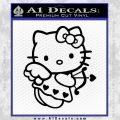 Hello kitty cupid decal sticker Black Vinyl 120x120