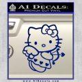 Hello kitty cupid decal sticker Blue Vinyl 120x120